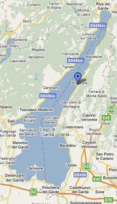 Karte des Gardasees